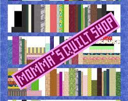 Bookshelf Quilt Pattern Bookshelf Quilt Etsy