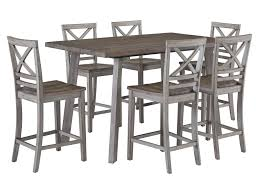 standard furniture dining room sets standard furniture fairhaven rustic table set with six chairs