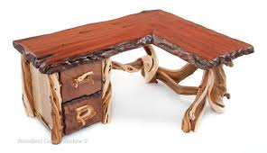 rustic l shaped desk custom made desks rustic desk live edge cabin furniture
