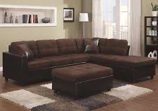 suede sectional sofas living room faux suede sectional sofas loveseats u0026 chaises ebay