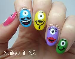 nailed it nz little monster u0027s nail art tutorial