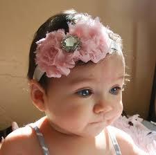 baby girl headband pink baby headband baby girl headband newborn headband shabby
