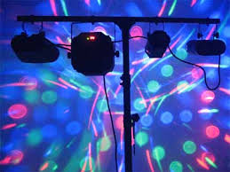 party lights rental audio visual rentals los angeles projector sound system party lighting