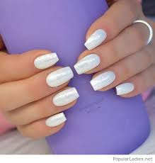 wonderful white glitter gel nails simple but awesome unhas
