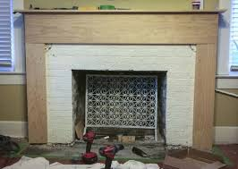 How To Resurface A Brick Fireplace by Renovating With A Tile Over Brick Fireplace Design