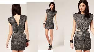 gestuz textured leather cutout dress shonshon8