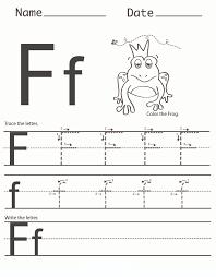 Number 2 Tracing Worksheet Letter F Worksheet For Preschool And Kindergarten Activity Shelter