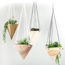hanging planters geometric hanging wooden planters handmade in bend oregon