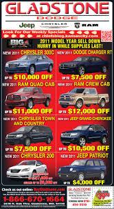 newspaper car ads gladstone dodge chrysler jeep and ram ad gladstone dodge