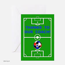 Soccer Thank You Card Template thank you cards inspirational soccer thank you card template
