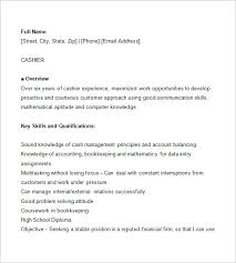 cashier resume template u2013 16 free samples examples format