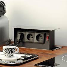 multiprise design cuisine prise encastrable pour la cuisine avec 3 prises et interrupteur