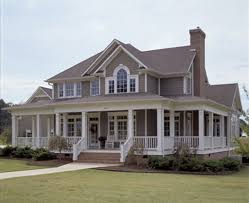 architectures country homes with wrap around porches house plans