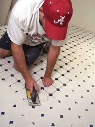 install mosaic floor tile how to