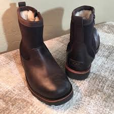 zipper ugg boots sale 59 ugg other ugg 7 w 8 brown leather suede