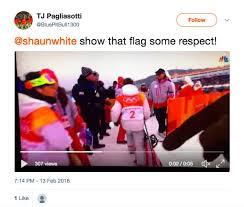 Shaun White Meme - shaun white drags us flag on ground igniting twitter war sfgate
