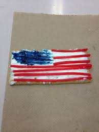 american flag cookie craft graham cracker frosting pull n peel