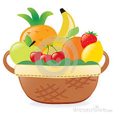 basket of fruits of fruits clipart