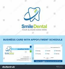 Dental Hygienist Business Cards Abstract Vector Smile Dental Identity Concept Stock Vector