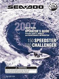 seadoo 180 challenger operation and maintenance manual exhaust