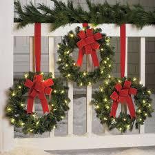 lighted christmas tree garland crafty lighted christmas garland outdoor displays solar chritsmas decor