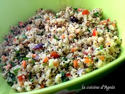comment cuisiner le quinoa recettes salade de quinoa et boulgour la cuisine d agnèsla cuisine d agnès