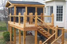 partially screened in deck for guest house wrap around front