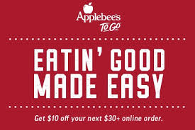 applebees coupons on phone applebee s coupon save 10 on 30 applebee s to go the clever