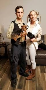 easy couples costumes easy couples costume han and princess leia with puppy
