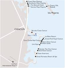 Map Of Mexico Cancun by Vax Vacationaccess Destination Detail