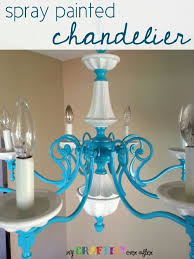 Painted Chandelier Spray Painted Chandelier My Craftily After