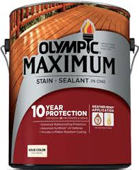 Find A Wood Stain That Lasts Consumer Reports by Olympic Elite Advanced Stain Sealant In One Solid