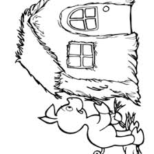 straw house coloring kids drawing coloring pages marisa