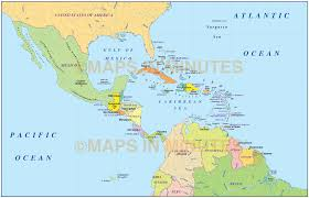 Caribbean Maps by Digital Vector Central America U0026 Caribbean Basic Political Map
