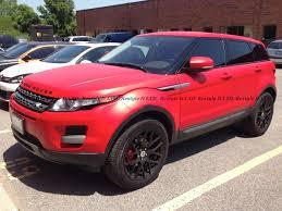 wrapped range rover evoque matte cardinal red range rover evoque vehicle customization shop