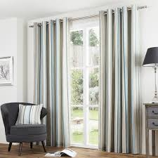 Duck Egg Blue Blackout Curtains Melrose Stripe Eyelet Curtains Free Uk Delivery Terrys Fabrics