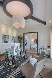 Office Chandelier California Family Home With Transitional Coastal Interiors Home