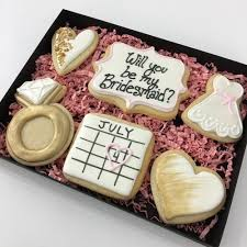 cookie gift boxes bridesmaid cookie gift box sweet relief pastries