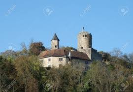 Small Castle by Krautheim Castle Above A Small Village In Hohenlohe Named