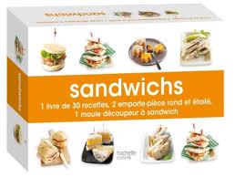 emporte pi鐵e cuisine coffret sandwichs 1 livre de 30 recettes 2 emporte pièce rond