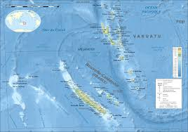 Picture Of Map Map Of Vanuatu Topographic Map Worldofmaps Net Online Maps