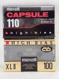 maxell cassette maxell xlii100 100 min capsule 110 min blank audio cassette