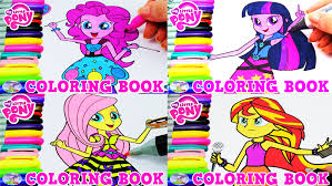 my little pony color book my little pony equestria girls coloring book compilation episode
