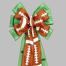football ribbon football pigskin field yardline bow football birthday party
