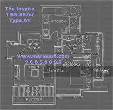the inspira floor plan the inspira 11 arnasalam chetty road 1 bedroom 668 sqft