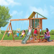 wooden swing sets toys