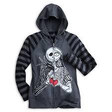 skellington and sally sleeve raglan hoodie for
