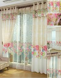 curtains designs with floral patterns like garden style