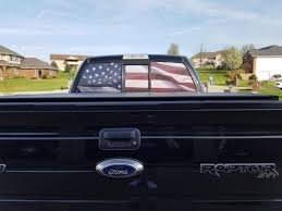american flag truck american muscle graphics f 150 perforated real flag rear window