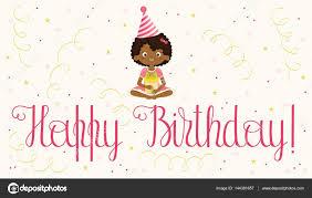 happy birthday card with black u2014 stock vector natalie art